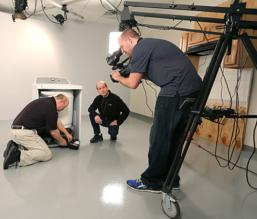 RepairClinic's video-production studio